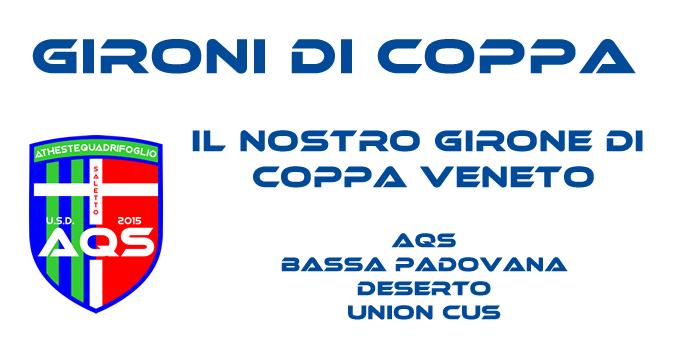 Usciti i gironi di Coppa Veneto: subito il derby!
